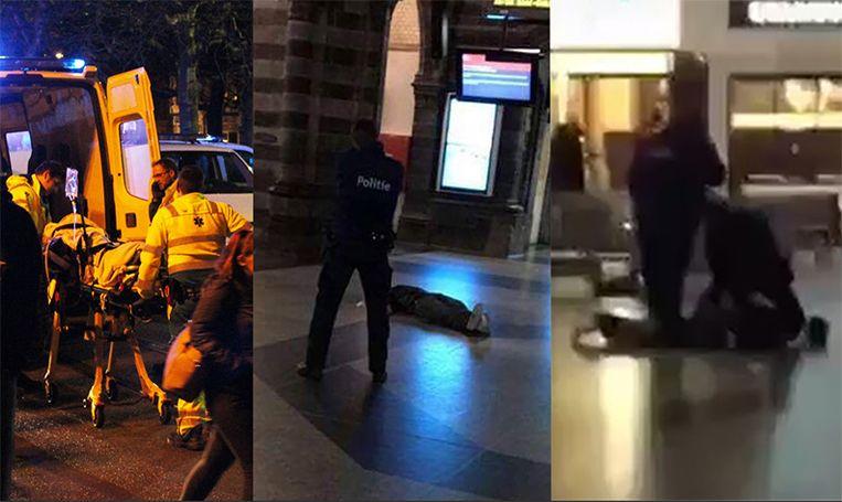 Beelden van de politie-interventie in Gent-Sint-Pieters.
