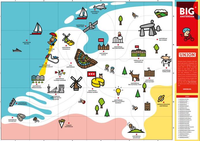 De kaart waarop Gouda een 'Amsterdam cheese market' heeft. Of is?