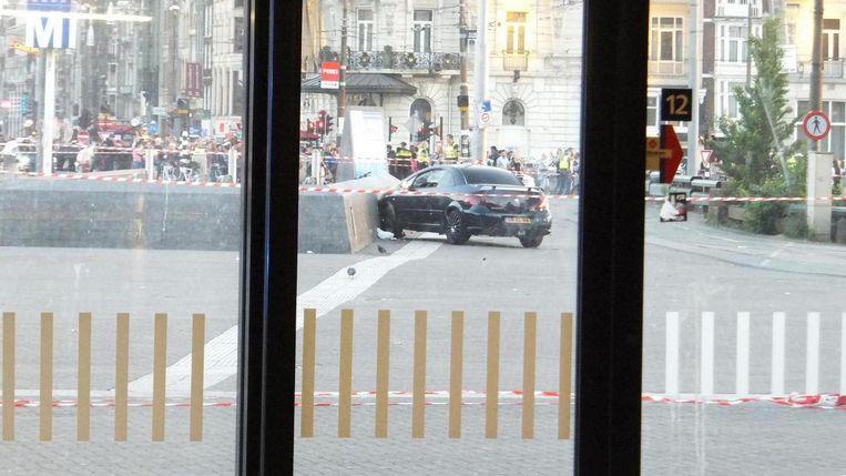 De auto na het incident. Beeld Addie Schulte