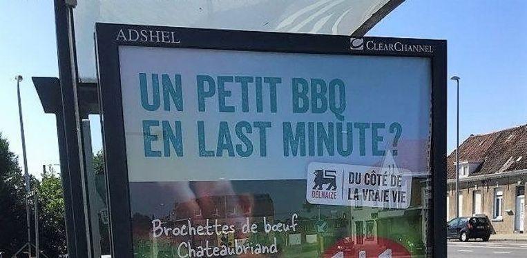 De Franstalige reclame aan bushokjes werd onder meer op 't Hoge opgemerkt