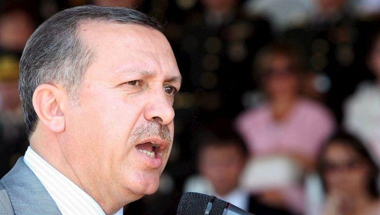De Turkse premier Reccep Tayyip Erdogan. Foto EPA Beeld