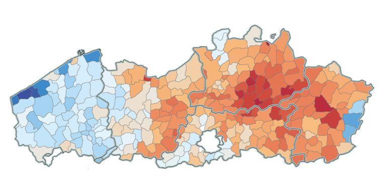 In de provincies Antwerpen en Limburg wonen de grootste nachtbrakers.