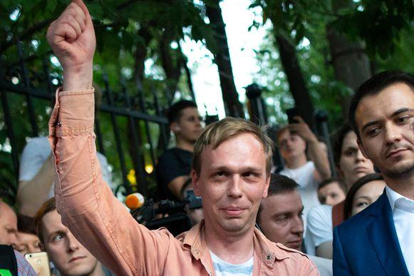 De Russische onderzoeksjournalist Ivan Goloenov mocht de cel vandaag uit. Volgens collega's is de kritische journalist erin geluisd.