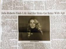 Slordig typefoutje maakt artikel over Julia Roberts opeens seksistisch