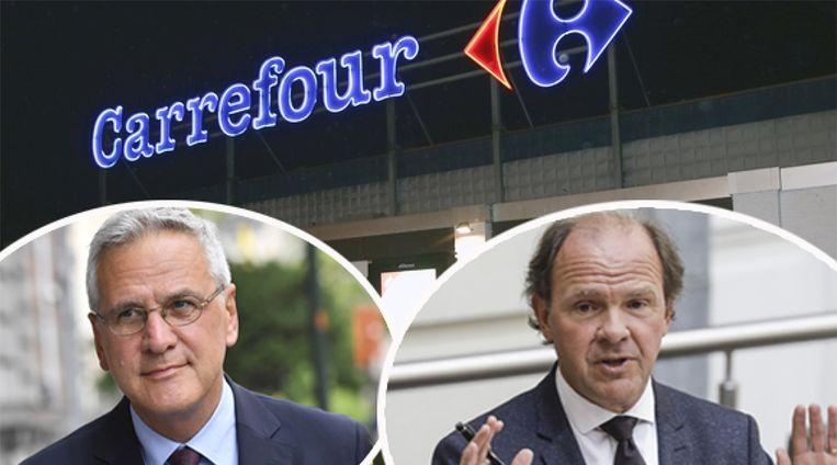 Federaal minister van Werk Kris Peeters (CD&V) en Vlaams minister van Werk Philippe Muyters (N-VA) kibbelen over SWT bij Carrefour.