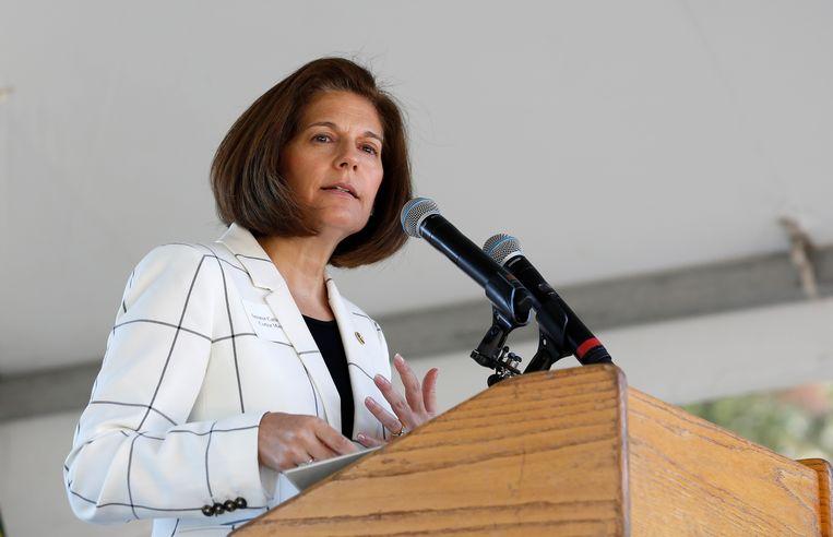 De Democratische senator Catherine Cortez Masto wil geen running mate meer worden van Joe Biden. Beeld AP