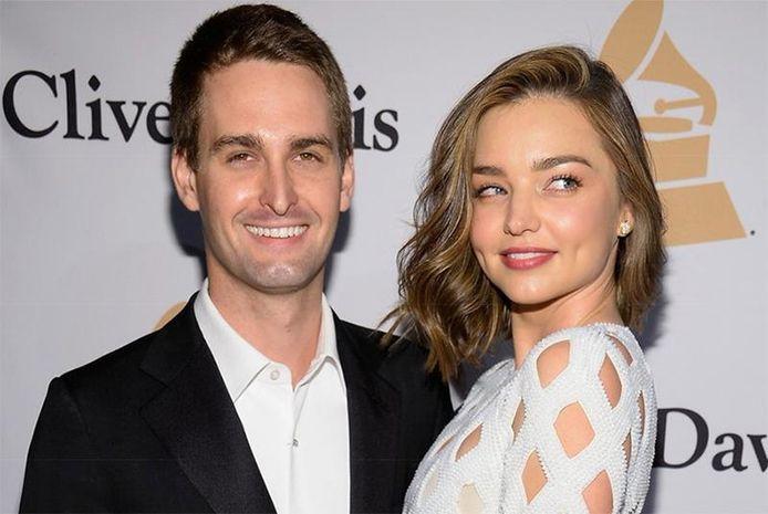 Snapchat-oprichter Evan Spiegel trad dit jaar in het huwelijk met het Australische topmodel Miranda Kerr.