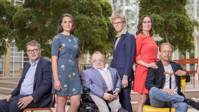 Sven Romkes, Frances Vereijken, Rick Brink, Thijs de Lange, Sandra Ballij en Boaz Spermon zijn de finalisten voor de verkiezing van de Minister van Gehandicaptenzaken.
