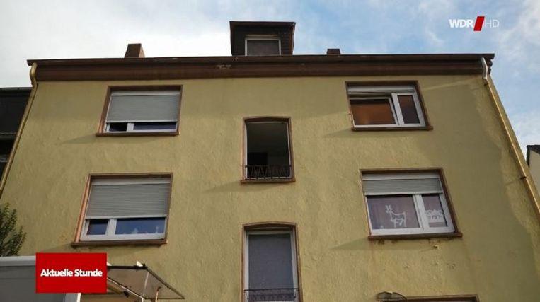 De woning in Recklinghausen waar Marvin werd aangetroffen.