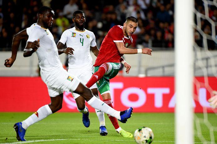 Hakim Ziyech in actie tijdens de Afrika Cup.