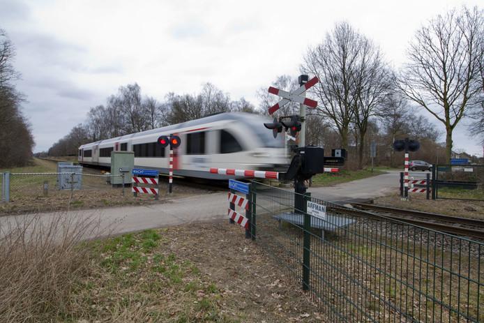Spoorwegovergang in de Noordelijke Maaslijn.