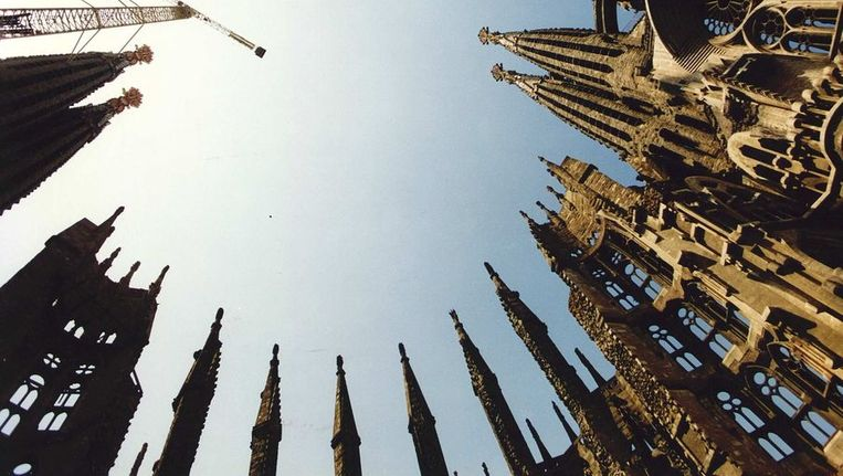 Artistieke foto van de Sagrada Familia. Beeld anp
