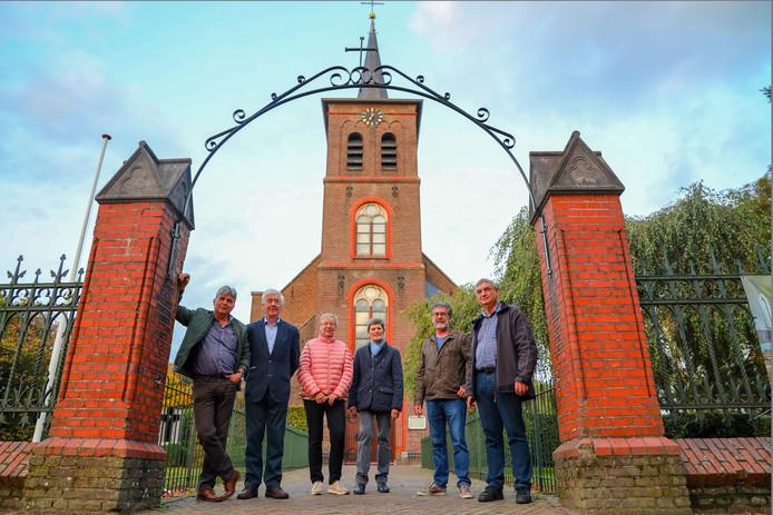 Leden van de commissie jubileumactiviteiten en pr. V.l.n.r.: Wim van Exel, Jac de Werdt, Carla van der Sanden, Annie Staals-Jacobi, Marcel Lammers en Sjaak van Happen.