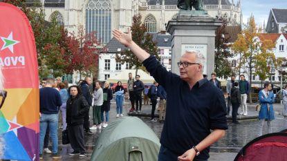 """PVDA voert tentenkampactie op Groenplaats tegen """"Antwerpse wooncrisis"""""""