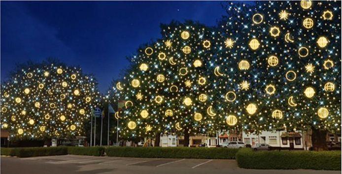Sterren en hemellichamen zullen de bomen een bijzondere aanblik geven.