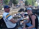 Samen met zijn vader Piotr in Amsterdam