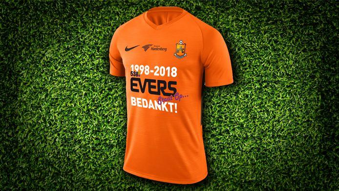 Het speciale Evers-bedankt-HHC-shirt.