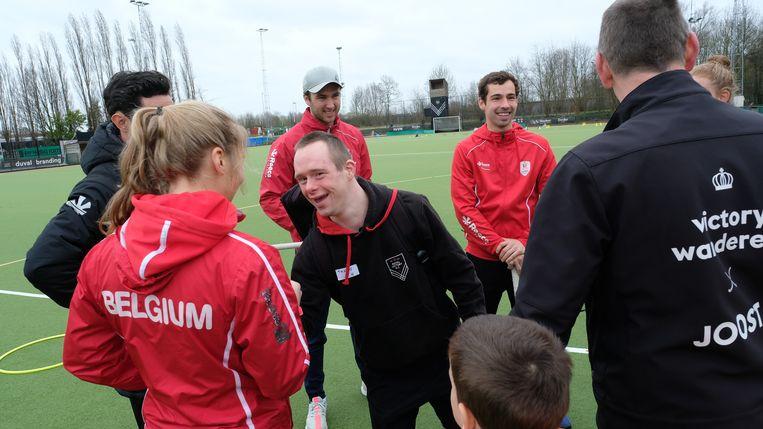 Thomas begroette ook de nationale spelers erg hartelijk