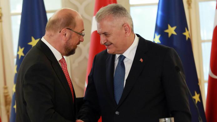 Martin Schulz en Binali Yildirim