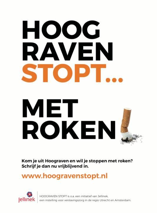 De flyer van Hoograven stopt met roken.
