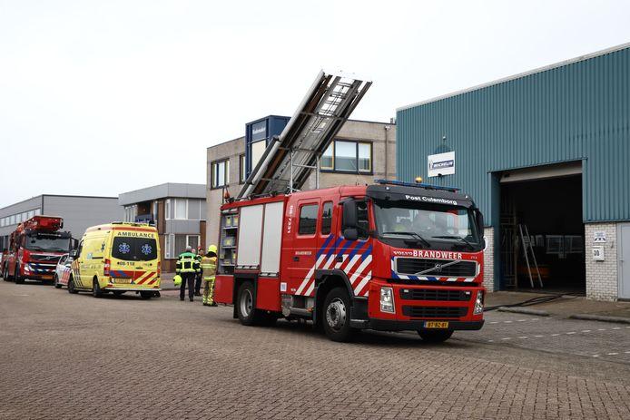 Drie gewonden bij een brand bij een bandenbedrijf in Culemborg.