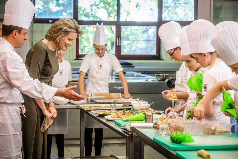 Op verkenning in de keuken van de jongste leerlingen van de hotelschool.