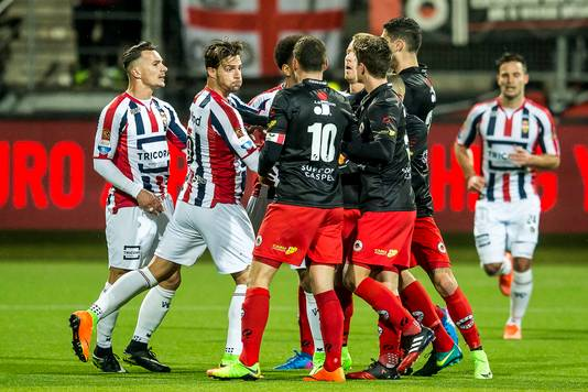 Opstootje tijdens Excelsior - Willem II vorig seizoen.