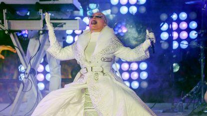 Amerikaanse artiesten trotseren weer en wind op Times Square