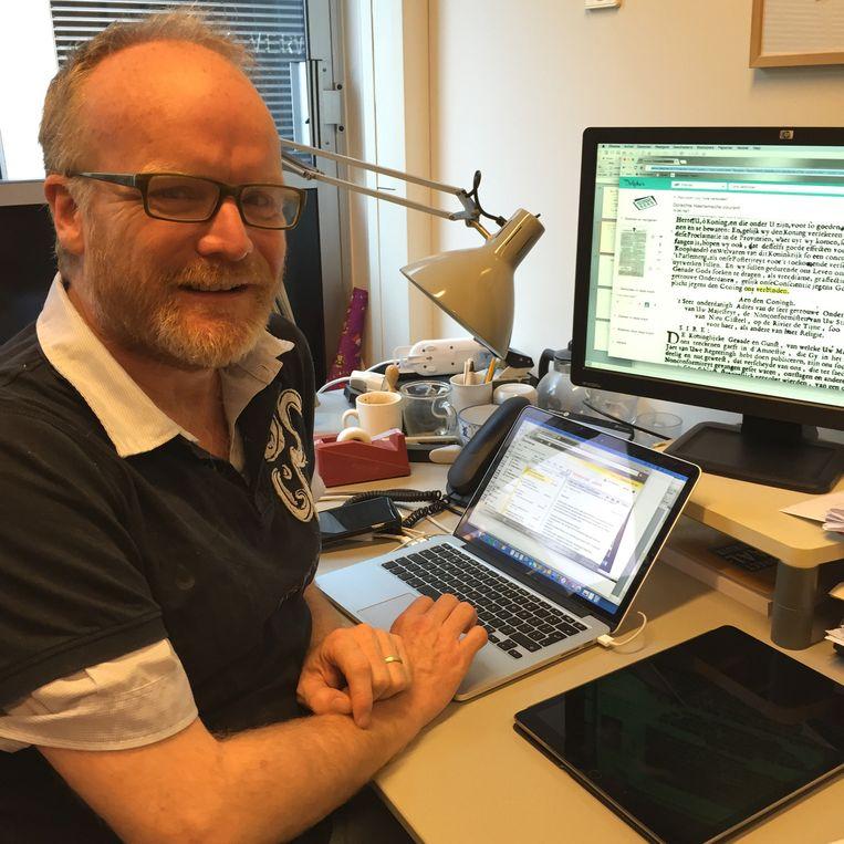 Marc van Oostendorp, taalkundige bij het Meertens Instituut. Beeld