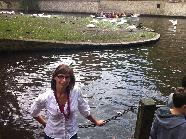 Ook Bruggelinge Chantal Vanslembrouck is enorm fan van de zwarte zwaan en ze wil dan ook niets liever dan dat de Burilda blijft.