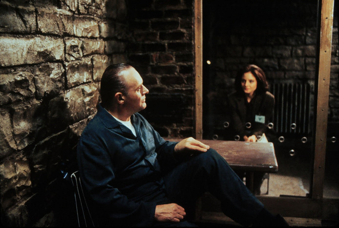 Anthony Hopkins met Jodie Foster in 'Silence of the Lambs'.