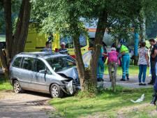 Auto knalt tegen een boom bij Eerbeek, zwaargewonde man mee met traumahelikopter