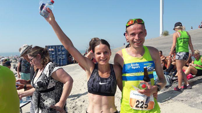 Monica Sanderse en Erwin Harmes, winnaars van de Hardloop3daagse in 2019.