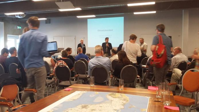 In de Zeeuwse Stromen in Renesse werd een dag lang gepraat over de effecten van klimaatverandering voor Schouwen-Duiveland
