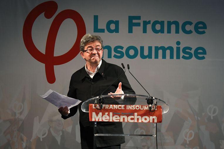 Jean-Luc Mélenchon, de vroegere presidentskandidaat en bezieler van de radicaal-linkse partij France insoumise.
