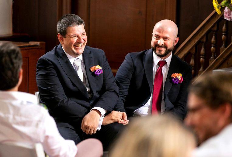 George en George gaven elkaar het ja-woord Beeld ANP