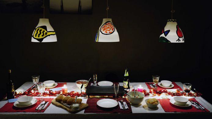 Een volle tafel met kerst?