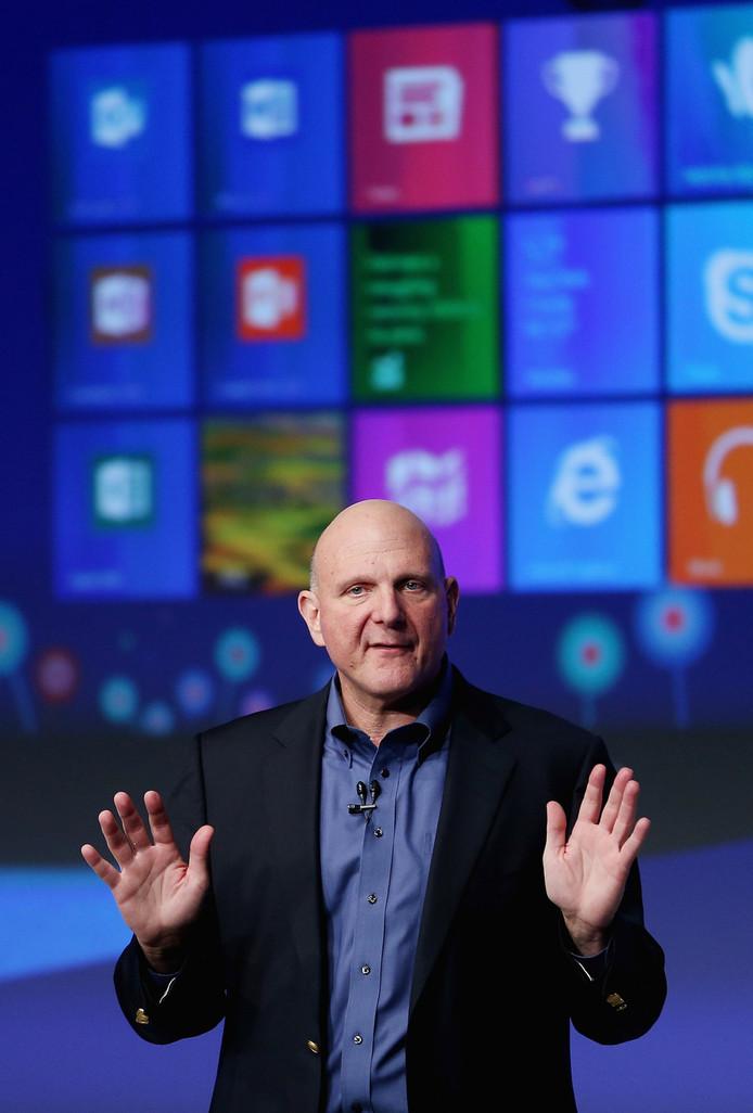 Microsoft-topman Steve Ballmer.