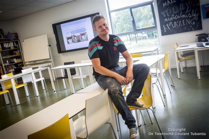Thijs Dijks is een van de begeleidend docenten mediawijsheid