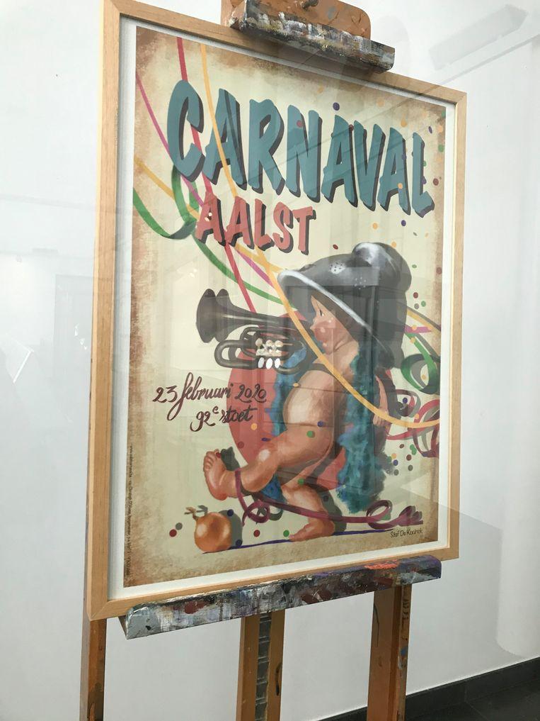 De winnende affiche van Staf De Koninck.