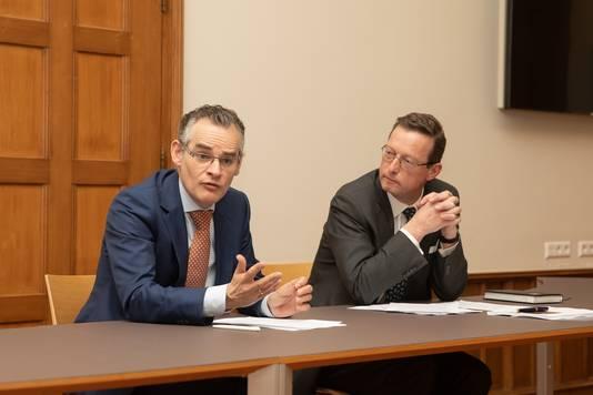 Wethouder Erwin Jansma (links) en Paleis Soestdijk directeur Floris de Gelder tijdens de presentatie van het nieuwe ruimtelijk kader.