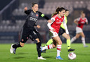 Daniëlle van de Donk maakte gisteravond een hattrick tegen Slavia Praag.
