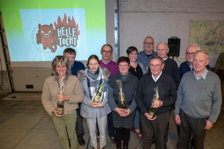 De kampioenen van Omloop Kluisbergen.