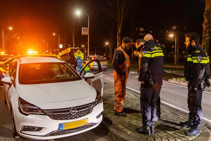 Ongeval in Tilburg.