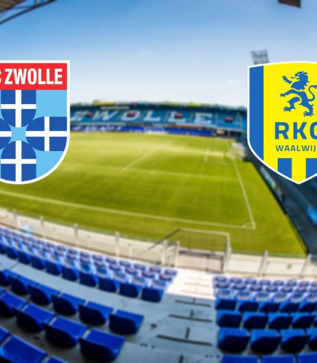 PEC Zwolle treft hekkensluiter RKC