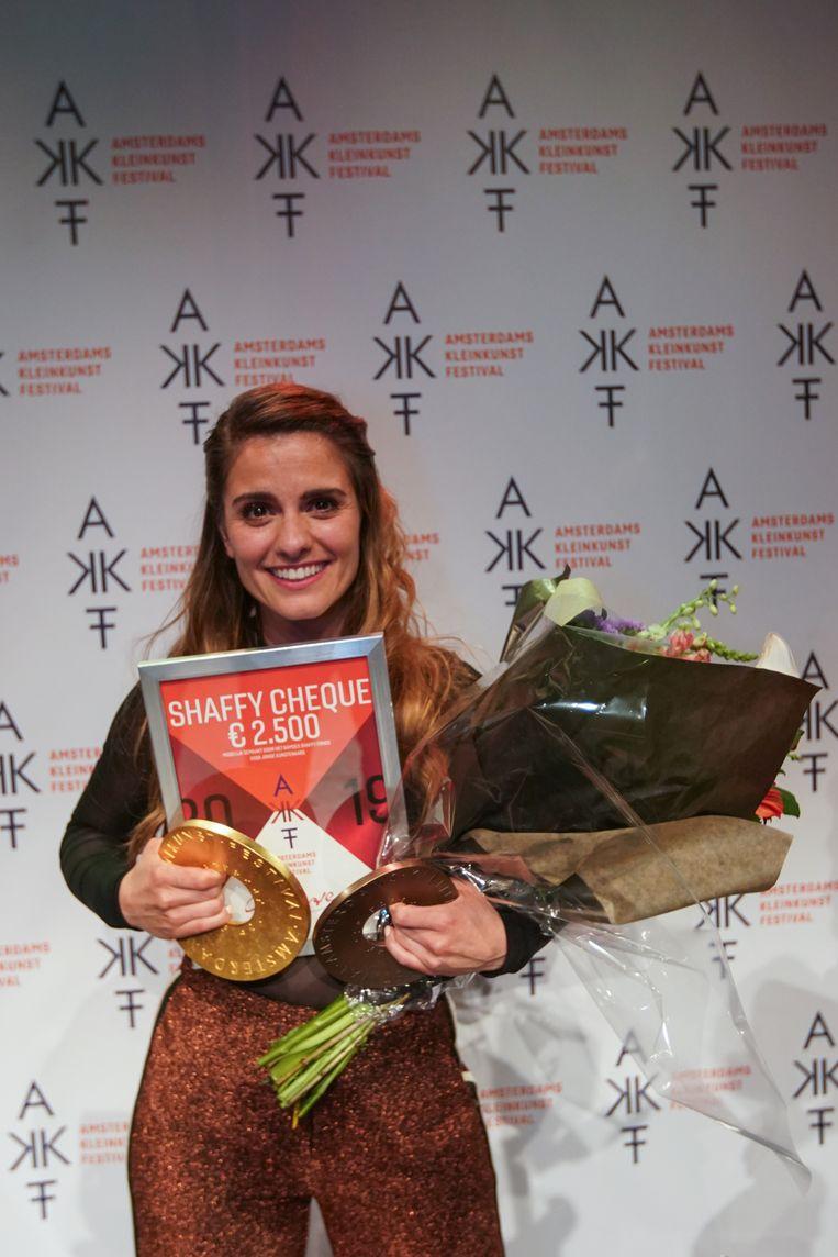 Rosa da Silva, de winnaar van de AKF Sonneveldprijs 2019. Beeld Jaap Reedijk
