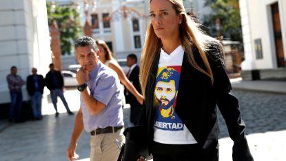Vrouw van Venezolaanse oppositieleider Leopoldo Lopez vlucht naar Spanje