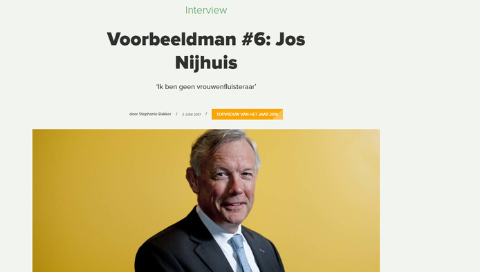 Jos Nijhuis was in juni nog een 'voorbeeldman'.