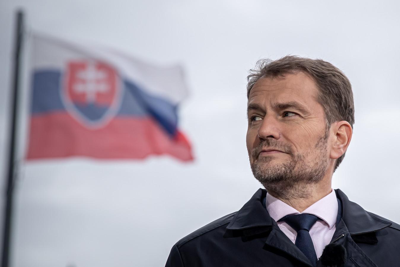 De Slovaakse premier Igor Matovic. In het Centraal-Europese land is de zaak-Chovanec al wekenlang voorpaginanieuws.