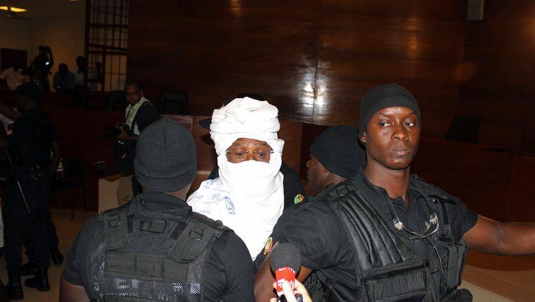 Habré bij zijn eerste voorgeleiding op 20 juni vorig jaar Beeld AP